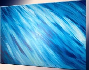 Blue Painting by LaffertyArt  - Original Abstract Art Sale , Christmas Gift, Black Friday Sale