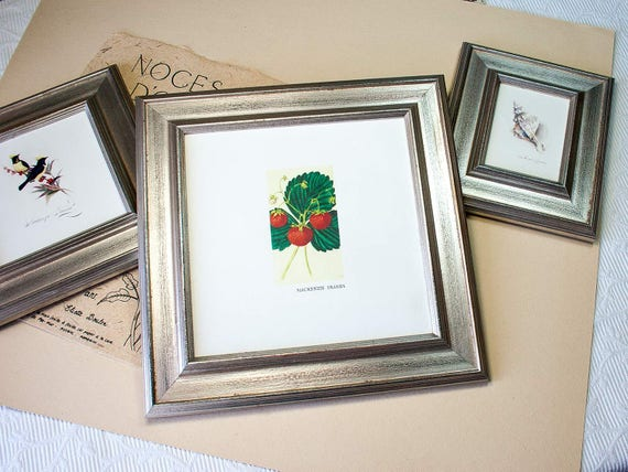 8x8 inch Antiqued Silver Photo Frame with subtle distressing