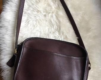 Vintage Coach Brown bag / Coach leather bag/ Crossbody / Shoulder Bag/ purse / Style 9087