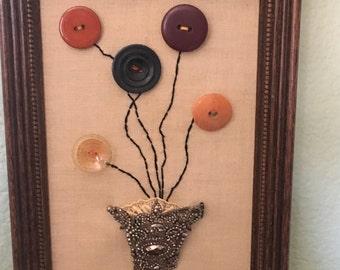 Vintage Button & Shoe Buckle Picture