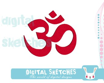 Om Machine Embroidery Design 3 Sizes