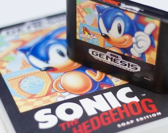 Sonic the Hedgehog Soap Licensed by Sega, Sonic, Sega Genesis, Genesis, 16 bit, Retro Gaming, 16bit, 8 bit gaming, Sonic Forces, Sonic Mania