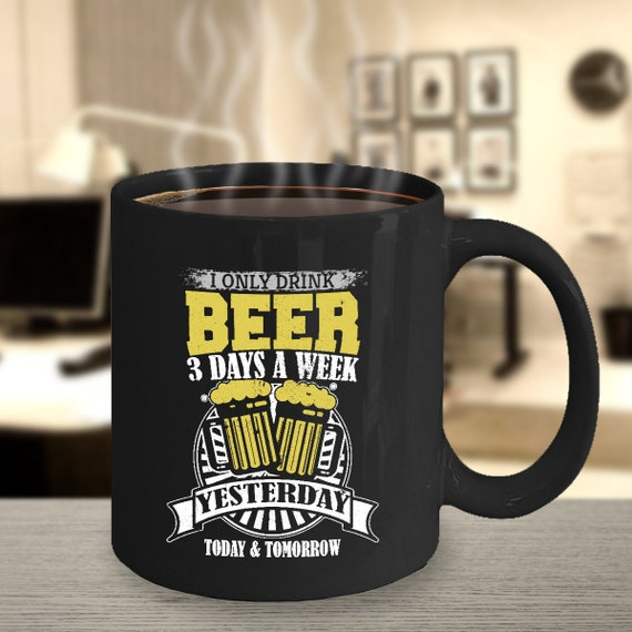 Beer 11oz Black Mug - Beer Geek