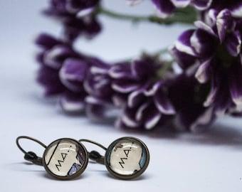 Speech bubble earrings
