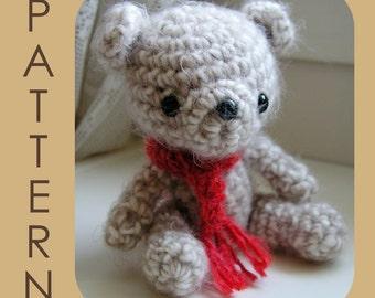 Oatsy Bear - Amigurumi Crochet Pattern PDF