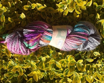 Hand dyed yarn - stat dust - bulky