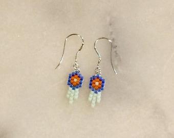 """Dreamcatcher"" earrings in brickstitch customize"