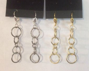 Hoop earrings  (large) HANDMADE WITH LOVE