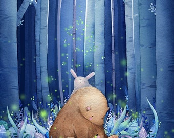Firefly Bear Print