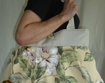 Reversible bag floral print Cecilia