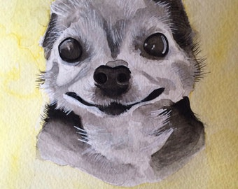Custom Dog Watercolor Painting
