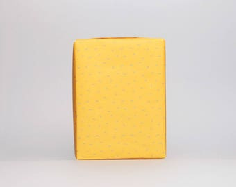 Yellow dots paper 10 sheets, honey mustard gift wrap, cute yellow christmas wrapping paper, winter gift wrap, holidays wrapping paper