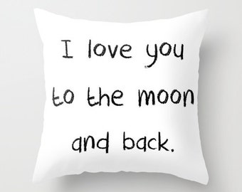 Black and White Pillows with Sayings, Velvet Cushion Cover, Kids Pillows, Pillow Cover 18x18 22x22, Girls Room Decor, Boys Bedroom, Nursery