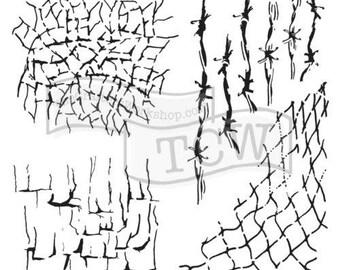 TCW Crafter's Workshop Mini MANY TEXTURES 6x6 Stencil Paint Mixed Media TCW661s