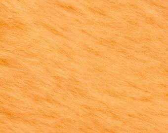 "10% OFF:  German Mohair Fabric, Orange, Straight, 10.5mm Pile, Size 18 x 27"" 50001036"