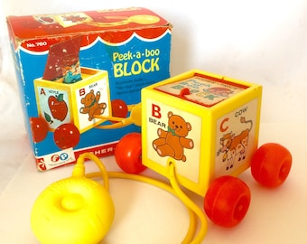 Fisher Price Peek a Boo Block, 1970 - 1979 Fisher Price Toy 760
