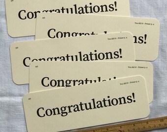 XL Congratulations Flash Cards