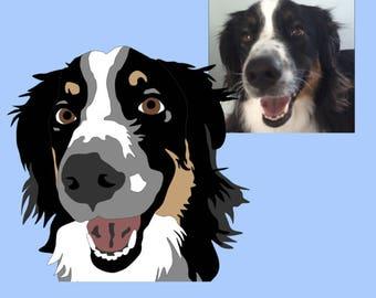 Pet Portrait | Custom Pet Portrait | Digital Pet Portrait | Pet Art | Printable Art
