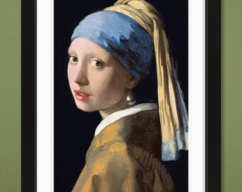 Famous Painting – Girl With A Pearl Earring by Johannes Vermeer 1665 (12x18 Heavyweight Art Print)