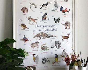 A Singaporean Animal Alphabet - A1 poster