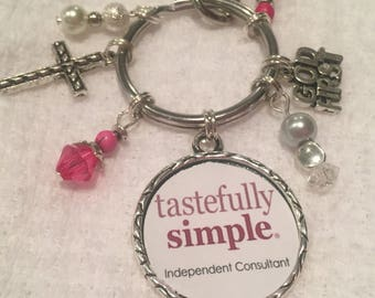 Tastefully Simple purse charm
