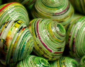 """Paper beads rolled by hand, creating jewelry, models Uniques.Perles """"Veronica"""""""