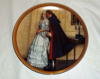 Knowles Norman Rockwell Collectors' Plate The Unexpected Proposal / Rockwell's Colonials / Limited and Numbered