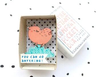 Knorretje - Instant Comfort Pocket Box - kunt u alles doen! -gevoel goed cadeau - cheer cadeau