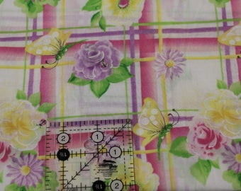 "Quilters Only Garden party by Donna Dewberry  100% cotton fabric 42""-44""  wide Springs"