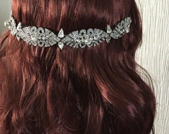 Art deco hairpiece - Bridal headpiece - Art deco headpiece - Great gatsby headpiece - Bridal vine - Wedding headpiece