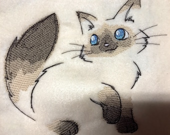 Embroidered Framable Art Squares Big Eyed Animals