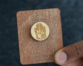Custom Wood Lapel Pin   Lapel Pin   Gifts for Men   Fathers day Gift   custom gift   custom lapel pin   New Orleans   Men Accessories