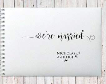 """Personalised Guest Book """"We're Married"""" Theme"""