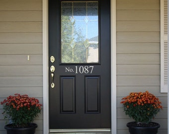 Street Number Front Door Sticker   No With Your House Numbers Front Door  Address Vinyl Decals Stickers 971