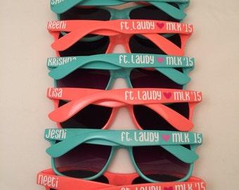 Bachelorette Personalized Sunglasses, Bachelorette Favor, Wedding Favor, Bachelorette Gifts, estination Wedding, Custom Sunglasses