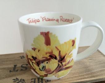 Bone china Parrot Tulip mug
