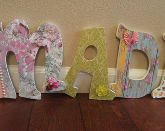 Girls Name Letters; Girls Letters; Nursery Letters