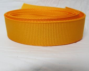 "Grosgrain ribbon 1"" dandelion (yellow) sold by the yard"