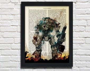 Titanfall, printed on Vintage Paper - dictionary art print, book prints