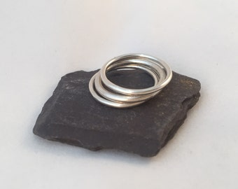 Sterling Silver Halo Trio - Stacking Bundle