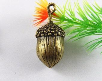 Necklace pendant Oak Acorn Charm bracelet charm jewellery making alloy 40mm handmade crafts
