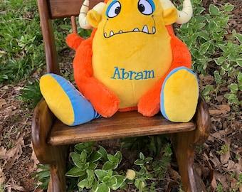 Personalized Stuffed Animal, Monogrammed Stuffed Animal, Monogrammed Cubbie, Monogrammed Monster, Silly Monster,personalized monster.