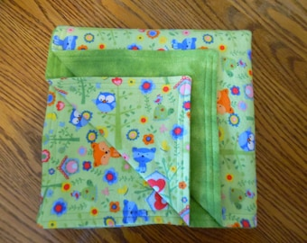 Raccoons, Foxes and Owls Baby/Toddler Blanket