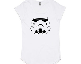 Stormtrooper Helmet from Star Wars Classic Movies Ladies T-Shirt