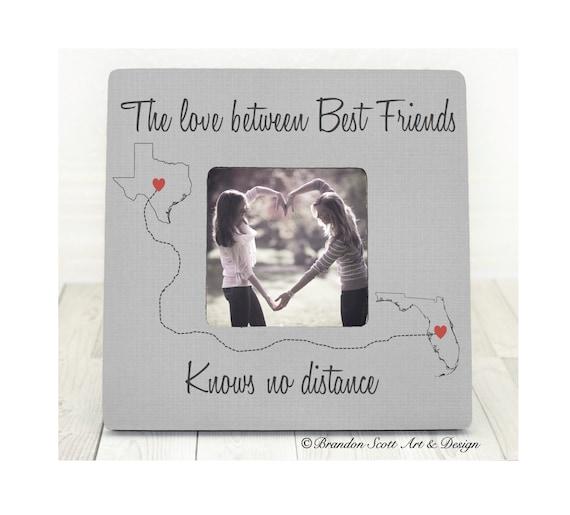 Best Friends Frame, Long Distance Best Friends, States Frame ...
