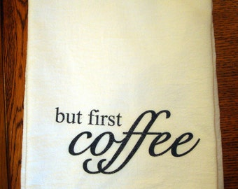Flour Sack Kitchen Towel, Coffee