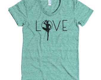 LYRA LOVE Aerial Lyra Artist Silhouette American Apparel Triblend Tee (available in 5 colors)