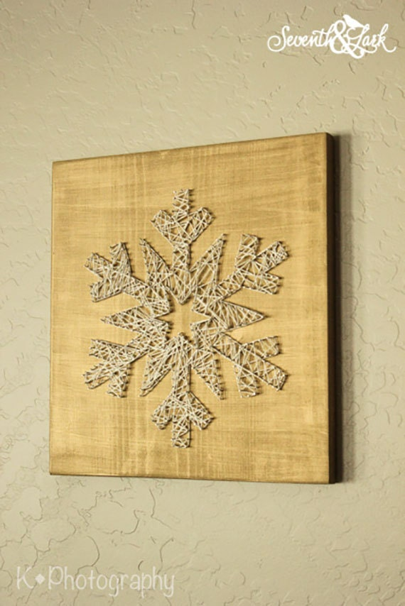 Diy kit create your own snowflake string art do it diy kit create your own snowflake string art do it yourself snowflake string art string art holiday decor winter christmas solutioingenieria Image collections