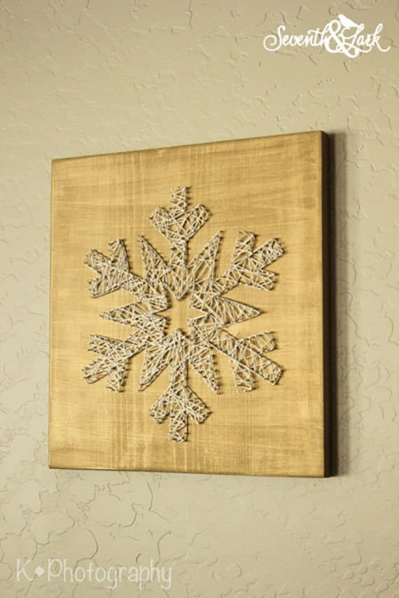 Diy kit create your own snowflake string art do it like this item solutioingenieria Gallery