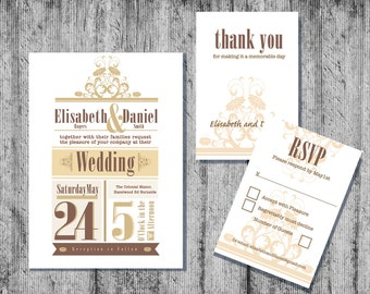 Wedding Invitation, Downloadable Wedding Invitation, Instant Wedding Invitation, Wedding Stationery,Printable Wedding Invitations